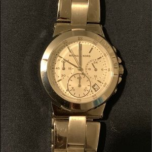 Michael Kors watch with silver tone band